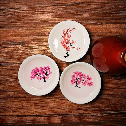 Magic Sakura Cup Japanese Cold Temperature Color Changing Tea Cup Flower display Teacup Ceramic Kung fu Single Cup