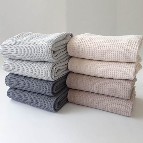 1Pcs 45*65CM Multi Purpose Hand Towel Bathroom Supplies Waffle Pattern Face Care Square Pattern Tea Towels Pure Color Cotton