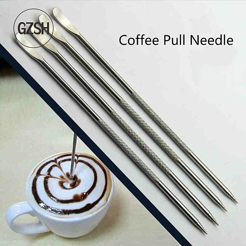 Coffee Barista dedicated Garland Needle, Stainless Steel Chain Link Needle, Classic Garland Needle