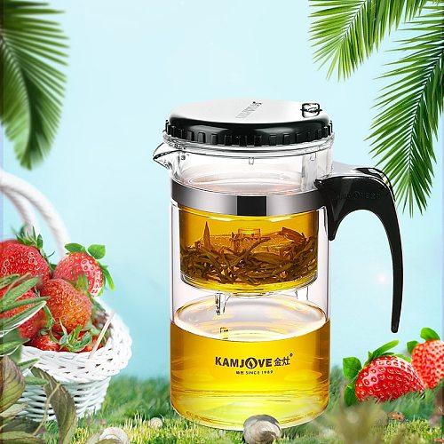 Kamjove quality elegant cup heat resistant teapot tea set delicate cup tea art pot