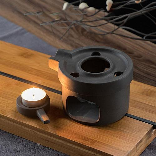 1Pc Tea Warmer Teapot Warmer Ceramic Candle Stand Tea Heater Tea Stove Warmer Candle Holder without Candle