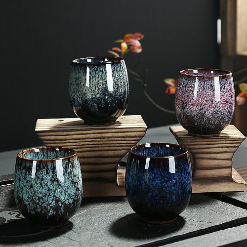 Kung Fu Tea Set Kiln Baked Single Cup Tea Bowl Teacup Large Tea Cup Master Cups Ceramic