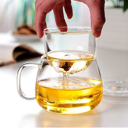 Household Glass Teacup for Stove Office Heat Resistant High Temperature Explosion Proof Tea Infuser Milk Rose Flower Mug Tea Cup