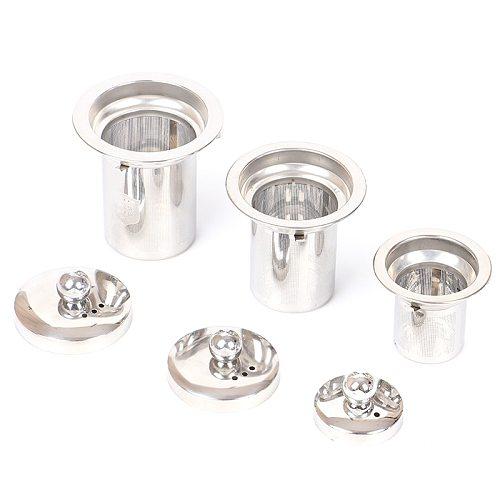 1PC Reusable Stainless Steel Tea Strainer Mesh Infuser Basket Loose Tea Leaf Infusers Herb Filter for Mug Teapot Teaware S/M/L