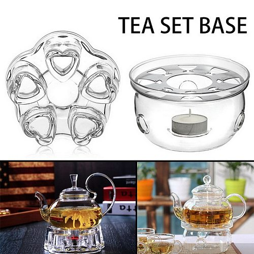 New Heating Base Coffee Water Tea Candle Clear Glass Heat-Resisting Teapot Warmer Insulation Base Candle Holder Tea Accessories