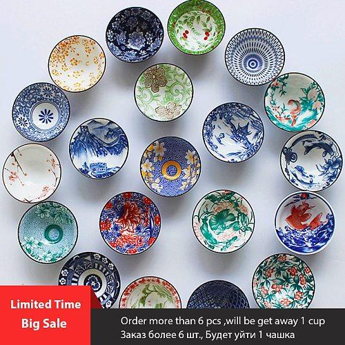 2021 Large Qinghua Porcelain Tea Cups ChaZhan Anti Scaling Retro Kung Fu Teacup Ceramic Multicolor Master Personal Single Cup