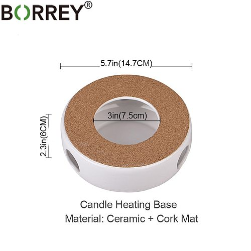BORREY Mini Portable Ceramic Teapot Holder Base Teapot Warmer Insulation Base Coffee Water Warmer Candle Holder Tea Accessories