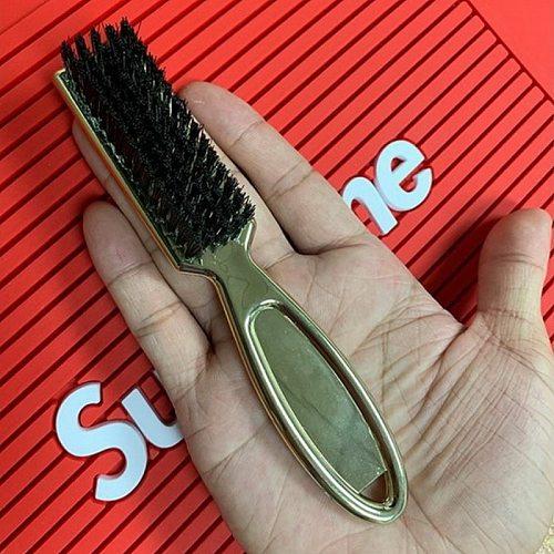 Golden Plastic handle beard brush soft wool nylon portable cleansing shaving brush