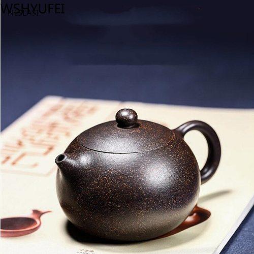 Yixing tea pot Boutique purple clay xishi Teapot Ore beauty kettle Master handmade Teaware Tea ceremony 188 ball hole filter