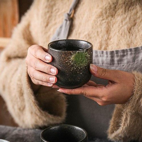LUWU Japanese Style Teacup Water Cup Stoneware Ceramic Hand-painted Kungfu Teacup Drinkware