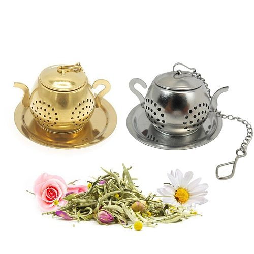 Stainless Steel Teapot Shape Tea Infuser Spice Flower Tea Strainer Herbal Filter Kitchen Teaware Accessories Tea Ball Teesieb