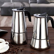 Stainless Steel Coffee Maker Coffee Pot Moka Pot Geyser Coffee Makers Kettle Coffee Brewer Latte Percolator Stove Coffee Tools
