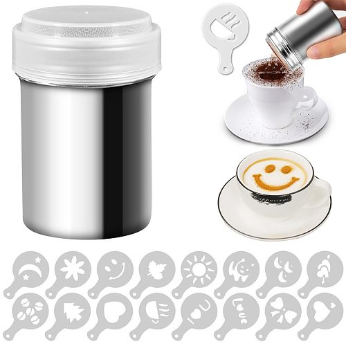 Cappuccino Foam Spray Mold Fancy Coffee Printing Model Cake Stencils Powdered Sugar Chocolate Cocoa Coffee Printing Assembly D3