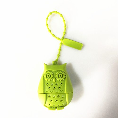 Creative Cute Owl Tea Strainer Tea Bags  Food Grade Silicone loose-leaf Tea Infuser Filter Diffuser Fun Cartoon Tea Accessories