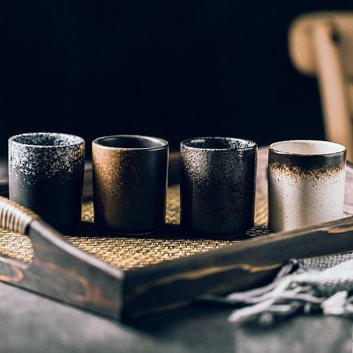 RUX WORKSHOP 150ml 200ml Japanese Style Teacup Water Cup Stoneware Ceramic Hand-painted Kungfu Teacup Cuisine Drinkware