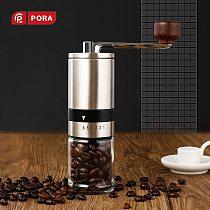 New Hand Coffee Grinder Stainless Steel Manual Grinder Machine Easy Clean Kitchen Tools Adjustable Handmade Coffee Bean Mill
