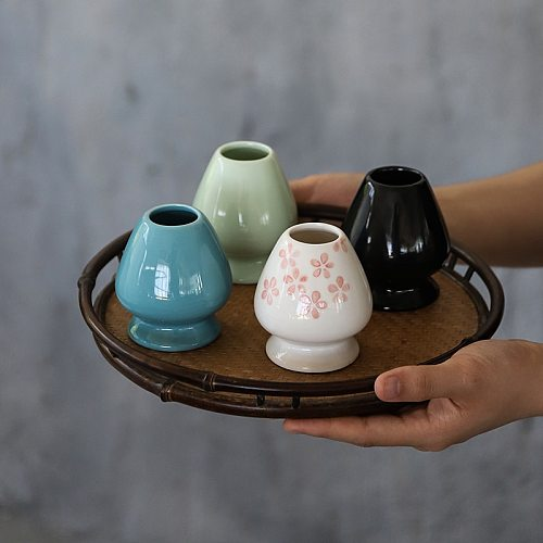 LUWU ceremic matcha whisk holders porcelain chasen holders matcha tea accessories