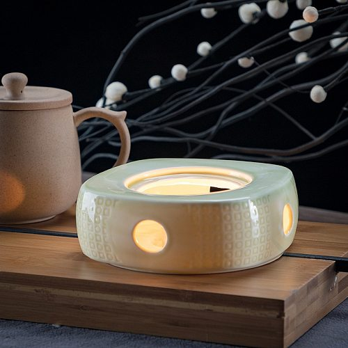 Ceramic Candle Heater Flower Tea Warmer Heating Base Boiled Wine Flower Tea Coffee Heated Insulation Base Japanese Style