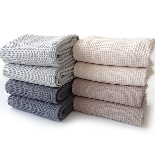 4pcs Cotton Waffle Lattice Tea Towel Table Cloth Napkin Home Wedding Party Kitchen Dishes Napkins Decorative Handkerchief Towels