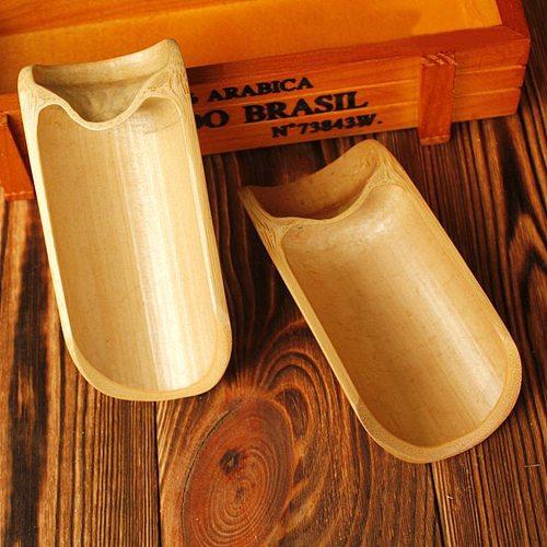 1PC Bamboo Tea Coffee Spoon Shovel Matcha Powder Candy Teaspoon Scoop Chinese Kung Fu Tool