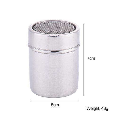 New 1Pc Stainless Steel Sprinkle Cocoa Cinnamon Sugar Gauze Mesh Jar Seasoning Bottle Fancy Coffee Powder Duster