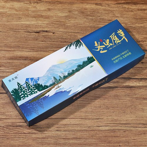 Tea World Cordyceps Sinensis Heavy Mint flavour Herbal cigarette Draws great Free shipping clearing lung No Nicotine & Tobacco Q