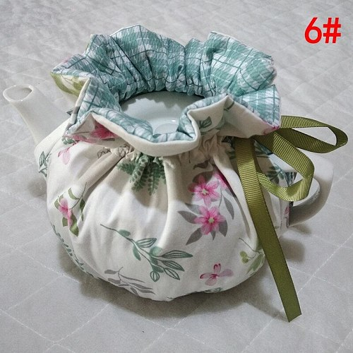 Autumn Winter Korean Style Home Teapot  Keep Warm   Insulation Cover Cotton Quilted Teapot Dust-proof Cover