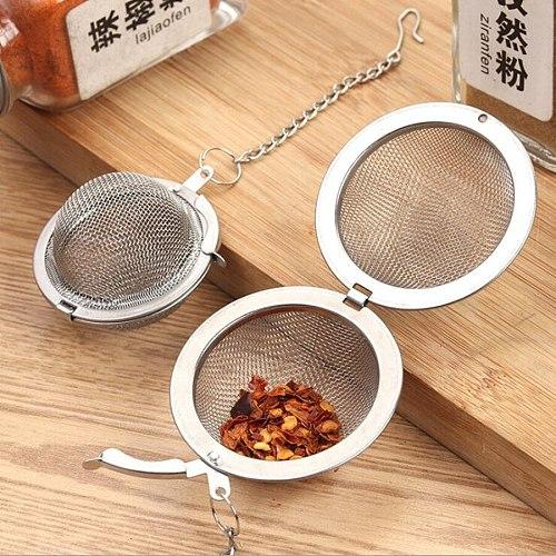 1pc Hot Selling Stainless Steel Sphere Locking Spice Tea Ball Strainer Mesh Infuser Tea Filter tea infuser