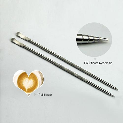 1PC Useful Stainless Steel Cappuccino Latte Espresso Coffee Decorating Art Pen Fancy Coffee Cafe Barista Tools  Kitchen Accessor