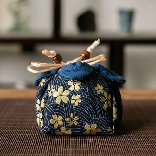 Creative Cloth Storage Bag Teaware Cotton Bags For Travel Outdoor Chinese Art Teacup Burlap Protective Cover Tea Cozies LA455