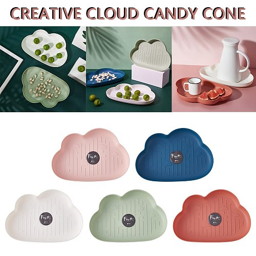 25# Creative Clouds Snacks Dried Fruit Plastic Box Thick Candy Plate Creative Candy Snacks Dry Plastic Kitchen Dishes Supplies