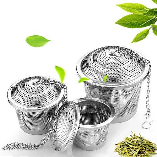 304 Stainless Steel Tea Ball Strainer Mesh Herbal Infuser Filter Tea Leaf Spice Tea Strainer for Teapot Kitchen Tool