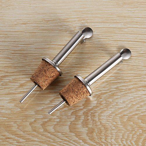3PCS/Lot Wooden Cork Red Wine Pourer Oil Beer Bottle Stopper Plug With Cover Home & Kitchen Tools 4 Styles Available