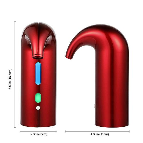 YCOO Electric Wine Aerator Portable Pourer Instant Wine Decanter Dispenser Pump One-Touch Automatic USB Rechargeable