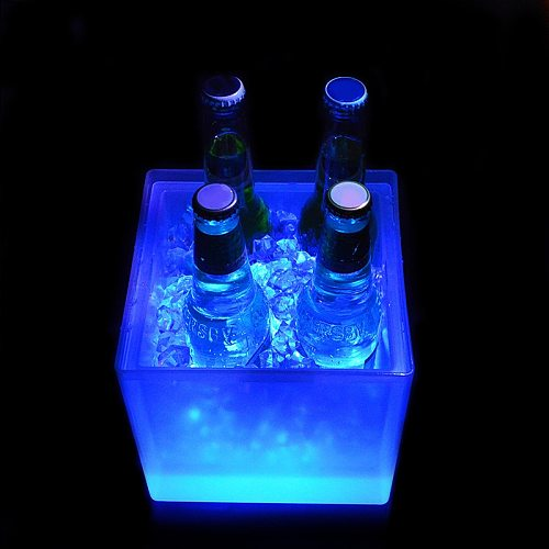 High LED Ice Bucket 5L Wine Cooler Colors Changing Champagne Wine Bucket for Party Home Bar LG66
