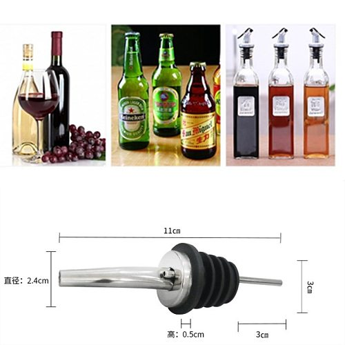 3pc Bottle Stopper Red Wine Pourer With Cap Oil Champagne Bottle Wood Plug Keep Wine Freash Black Lid Pourers Bar Party Supplies