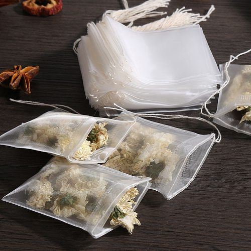 50/100Pcs/Lot Teabags  food grade Empty Scented Tea Bags With String Heal Seal Filter Paper for Herb Loose Tea  Tea Bags