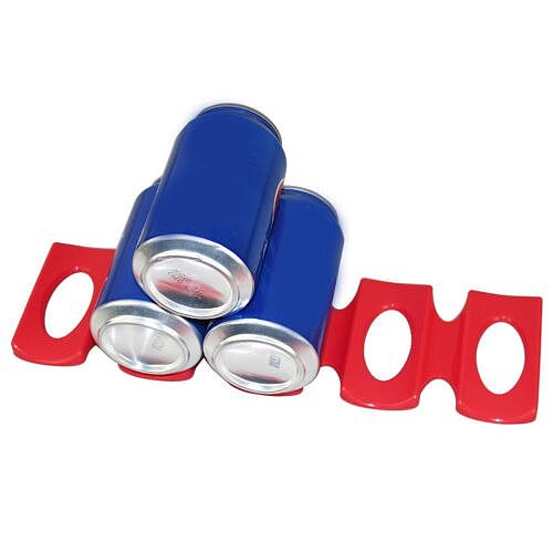 Fridge Silicone Pad Folding Beer Can Wine Bottle Rack Space Saver Stacking Tool