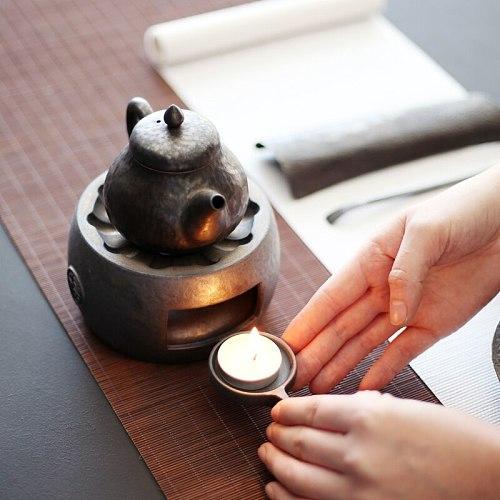 LUWU ceramic tea fire stoves tea warmer chinese kung fu tea accessories