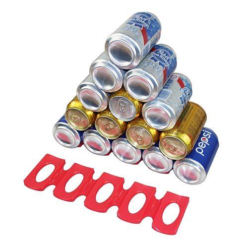 Foldable Wine Bottle Rack Beer Can Tank Fridge Silicone Pads Tile Cushions Storage Rack Space Saver Beverage Storage Shelf