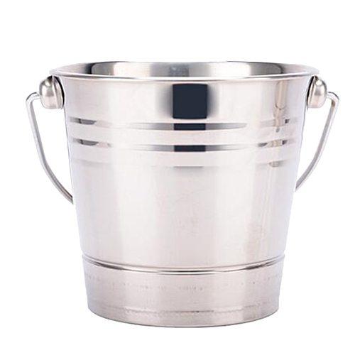 Stainless Steel Ice Bucket Champagne Wine Bucket Cooler for Bar Restaurant