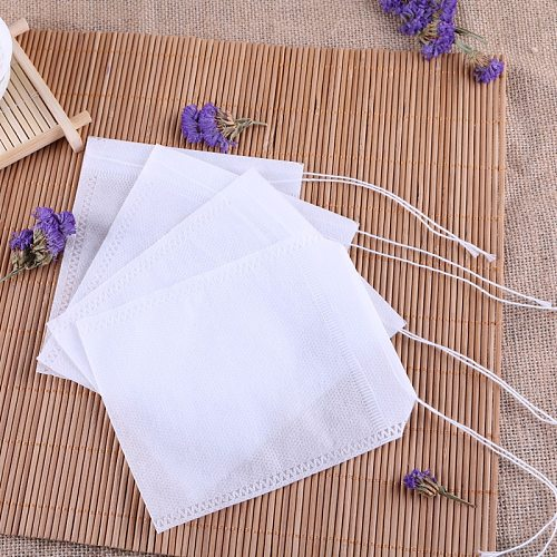 Disposable Tea Bags 100PCs Teabags Empty Non-woven Tea Bags With String Heal Seal Filter Paper