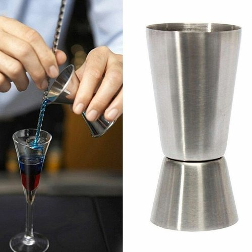 Stainless Steel Cocktail Shaker Measure Cup Bar Party Wine Double Jigger Shot Drink Spirit Measure Cup Bar Accessories Bartender