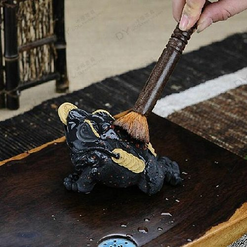 High quality small ebony teapot pen special wood tea set tea tray tea set dust brush tea ceremony accessories