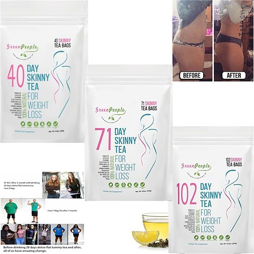 GPGP Green People 60/71/90/102 Days Detox Slimming Products Gentle Diettea Constipation for Weight Loss Natural Body Cleanse