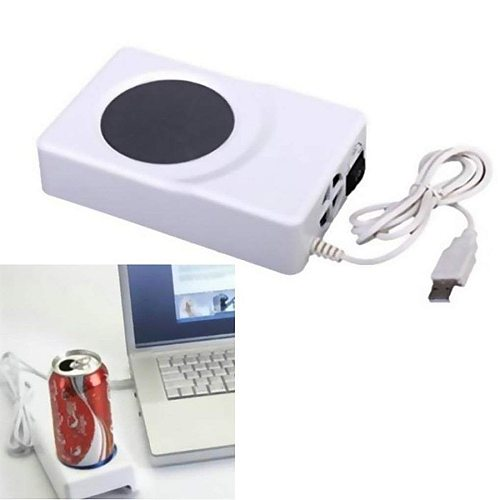 Dual Use USB Cooler Warmer Cup Coffee Tea Beverage Cans Cooler & Warmer Heater Chilling Coasters