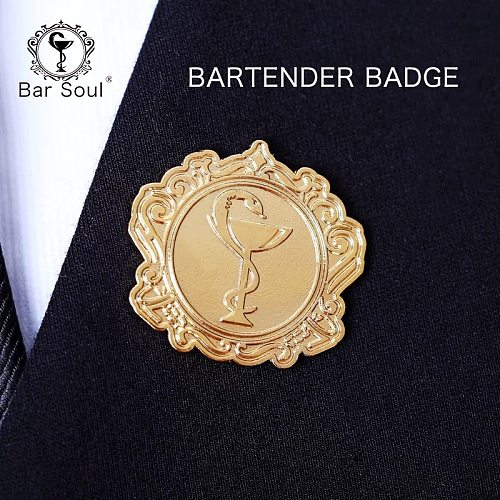 Bar Soul Bartender Badge Various Type Brooch Cocktail Badge Exquisite Professional Bartender Trinket Symbol Of Bartender