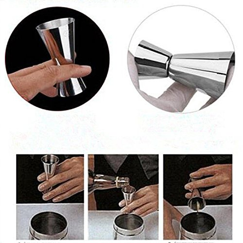 Stainless Steel Cocktail Muddler, Mixing Spoon, Jigger Set, Bar Tool set for Bar Party Wine Cocktail Drink Shaker
