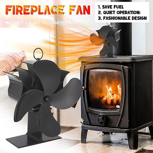 4 Blades Fireplace Fan Upgraded Heat Powered Stove Fan Log Wood Burner Ecofan Quiet Fireplace Fan Efficient Heat Distribution