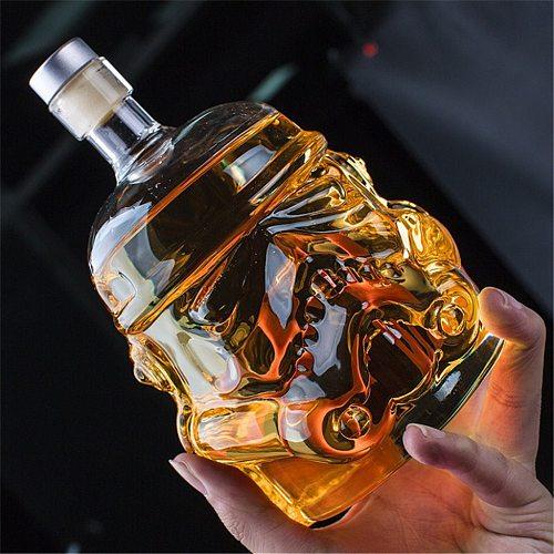 Wineglass 600ml Skull Cocktail Shot Glasses for Vodka Wine Glasses Whiskey Glass Decanter Wine Cocktail Set Skull Champagne Mug